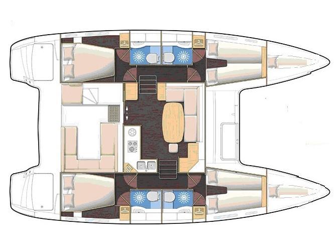 Lagoon 400 S2 (L400-16) Plan image - 1