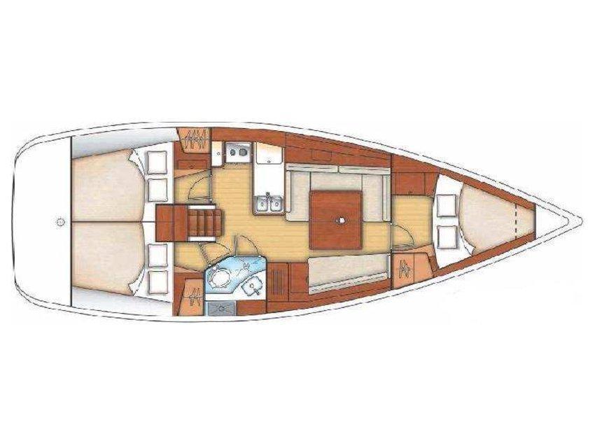 Oceanis 37 (Cinzia) Plan image - 1