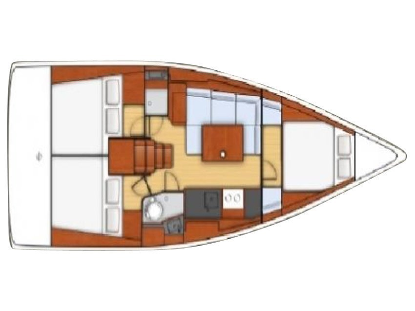 Oceanis 38  (Giustina) Plan image - 2