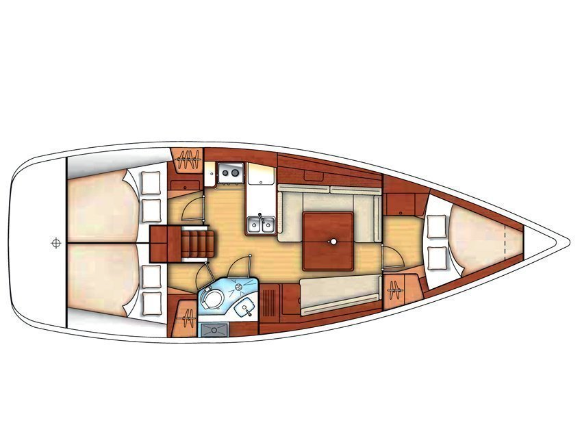 Oceanis 37 (Mary) Plan image - 1