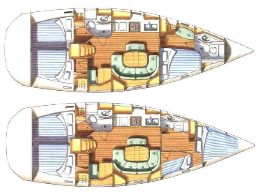 Oceanis 411-4* (Francesca) Plan image - 2