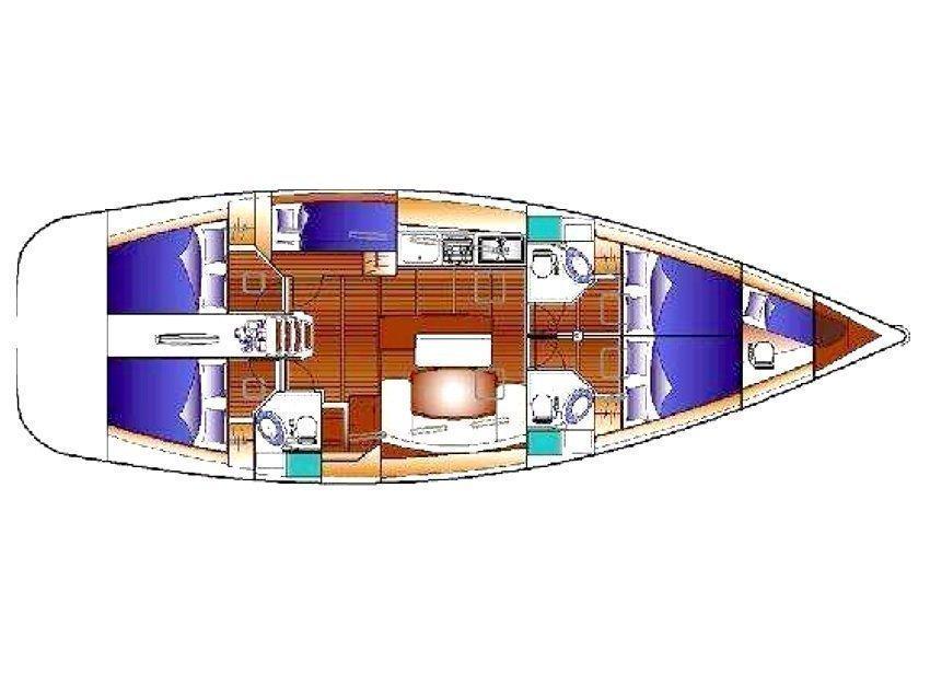 Cyclades 50.5 (Josefina) Plan image - 4