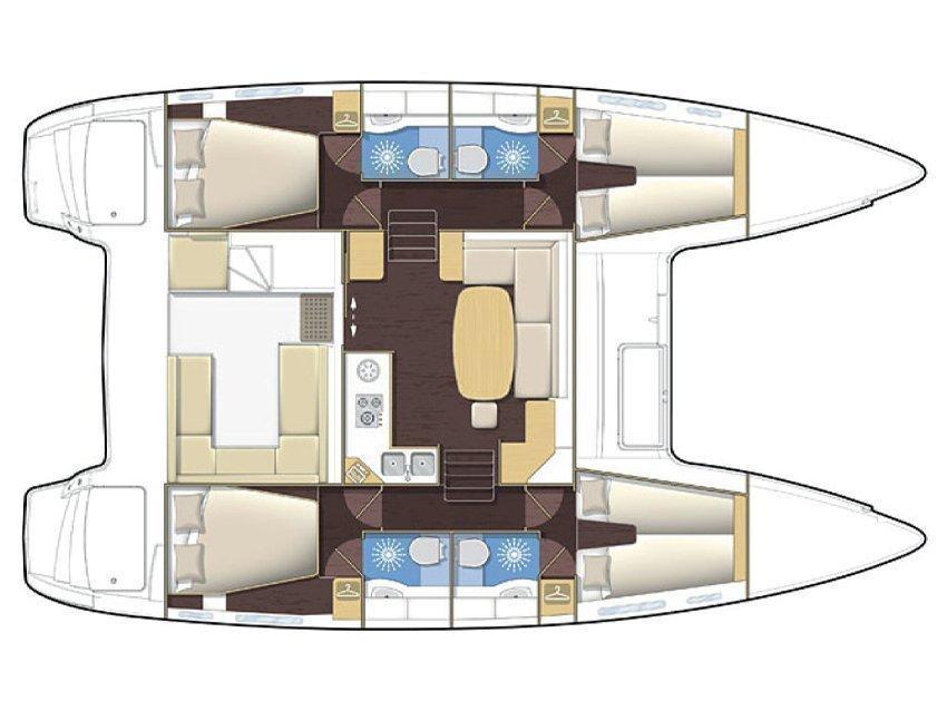 Lagoon 400 (Arianna II) Plan image - 1