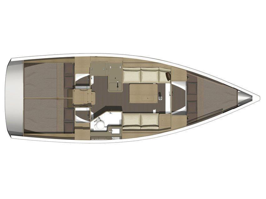 Dufour 350 GL (Sofia) Plan image - 1