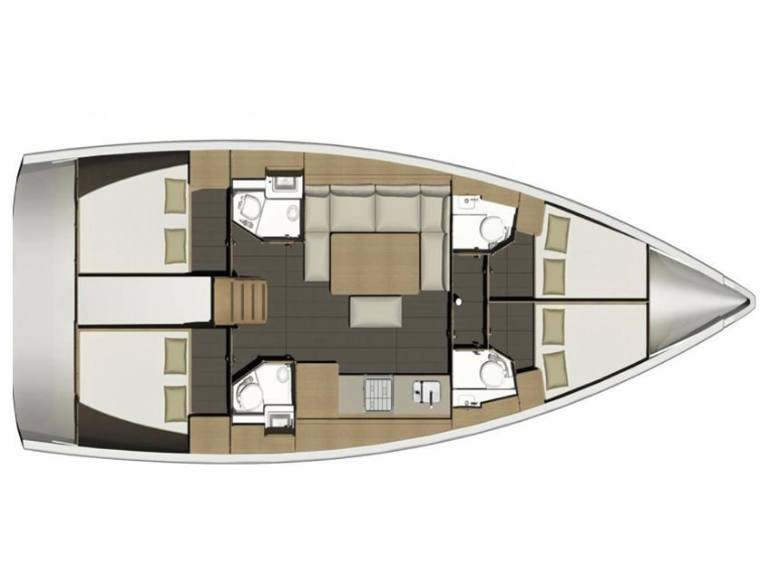 Dufour 460 Grand Large (Barbara) Plan image - 1