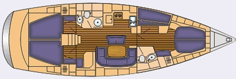 Bavaria 46 Cruiser (IRINA) Plan image - 6