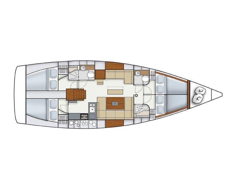 Hanse 445/4 (KAZHDY) Plan image - 4