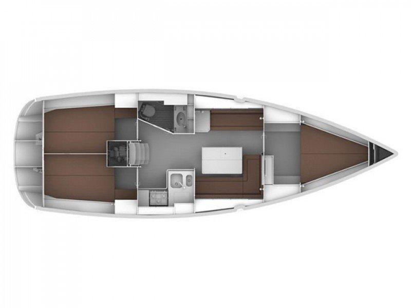 Bavaria 36 Cruiser (White pearl) Plan image - 8