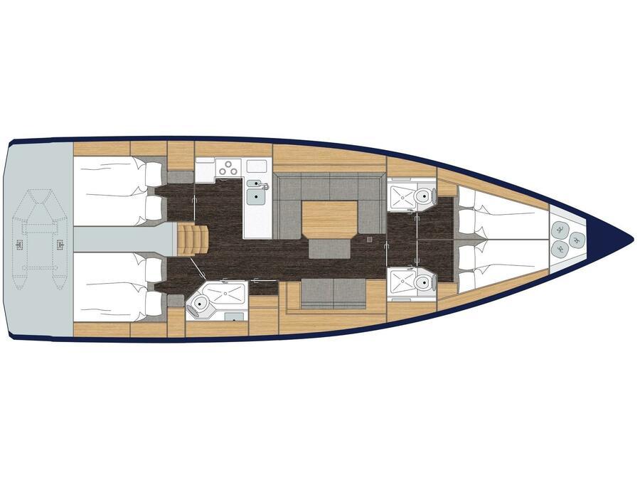 Bavaria C45 Style (Wisper) Plan image - 7