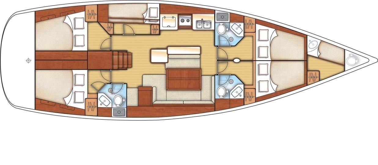 Oceanis 50 Family (LARA ) Plan image - 9