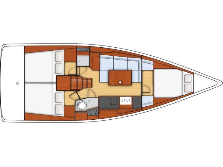 Oceanis 38 (3 cabins) (Salsa) Plan image - 10