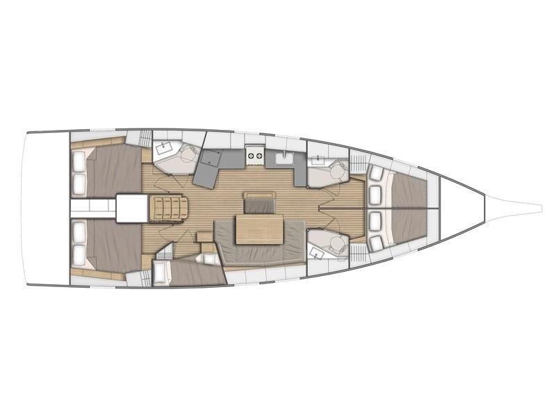 Oceanis 46.1 (Luna - Water maker, Solar Panel) Plan image - 1