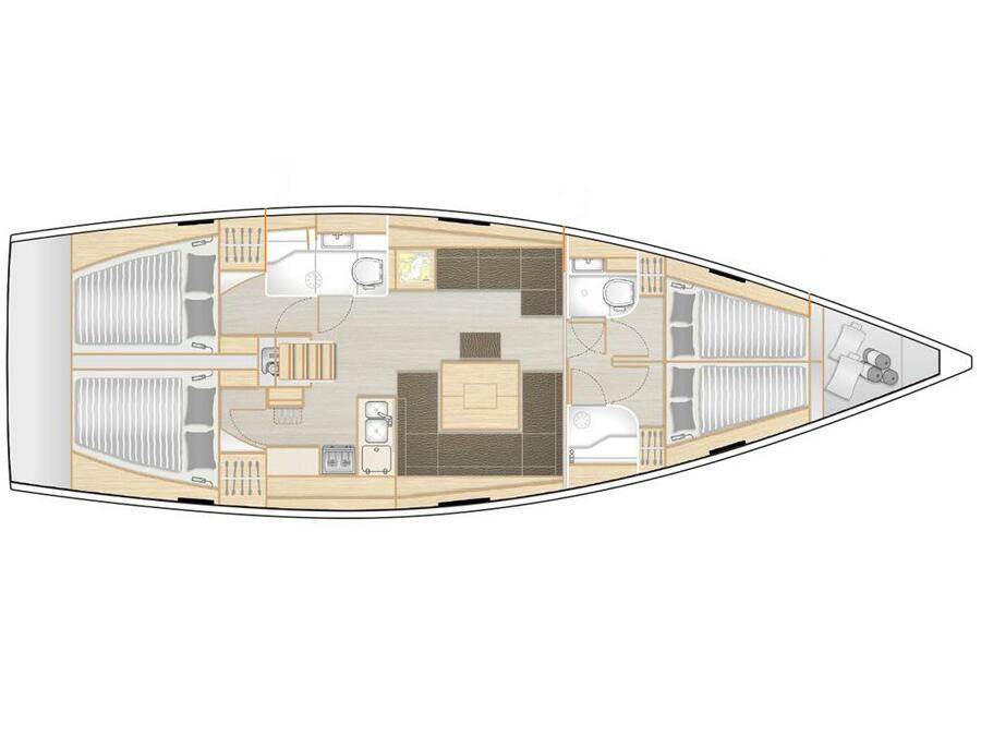 Hanse 458 (H458-20-T) Plan image - 2