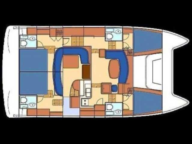Lagoon Powercat 43 (Perseus 1) Plan image - 12
