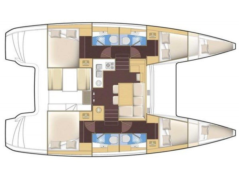 Lagoon 40 (Serendipity) Plan image - 2