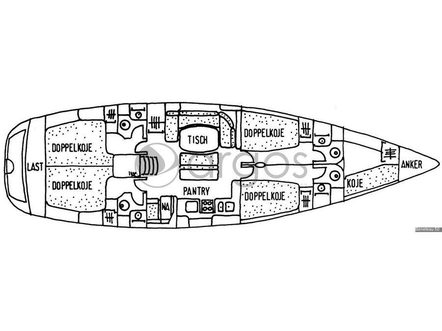 Beneteau 50-4 (Alboran Bikini (Majorca)) Plan image - 2