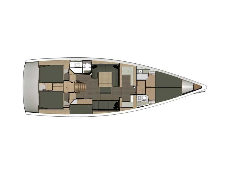 Dufour 500 Grand Large (Grandioso) Plan image - 14