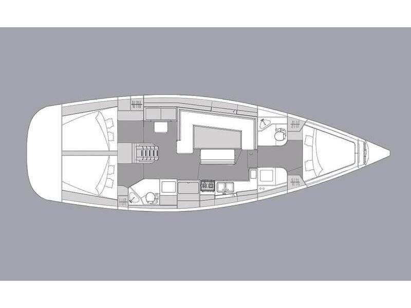 Elan 45.1 Impression 3 cabins 2 heads (Ianira) Plan image - 14