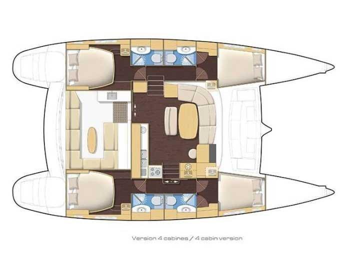 Lagoon 440-07 (LAGOSTA !Low budget cat!) Plan image - 9