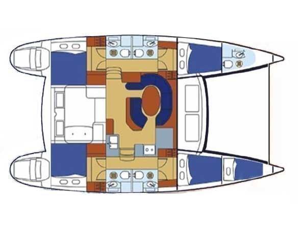 Lagoon 410 (Kivotos) Plan image - 2