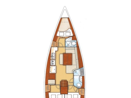 Oceanis 40 (FELIX - Refit 2018) Plan image - 2