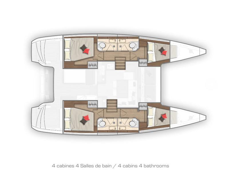 Lagoon 40 (MONARCH new 2020+AC+G) Plan image - 1