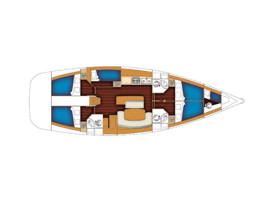 BENETEAU Cyclades 50.5 2009-10 REFIT 2018 (EMERALD  ) Plan image - 11