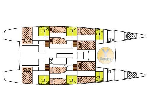 Catlante 720 - incl. crew & full board (Eye Candy (Catlante 720 - incl. crew & full board)) Plan image - 1