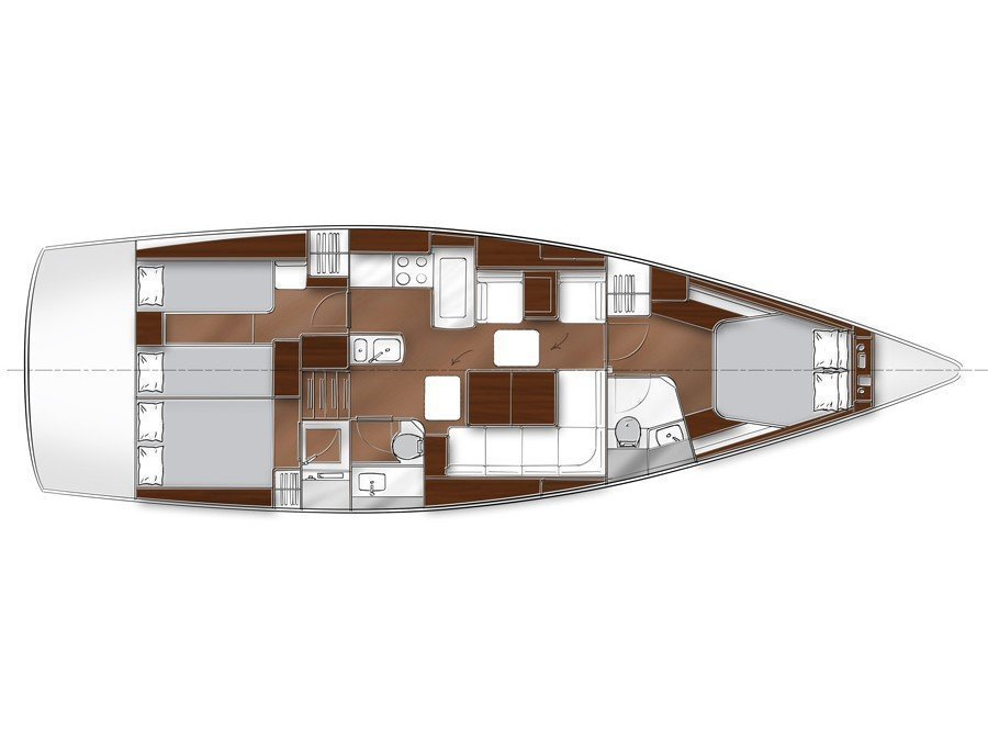 Bavaria Vision 46 Owner's Version (Ianos) Plan image - 1
