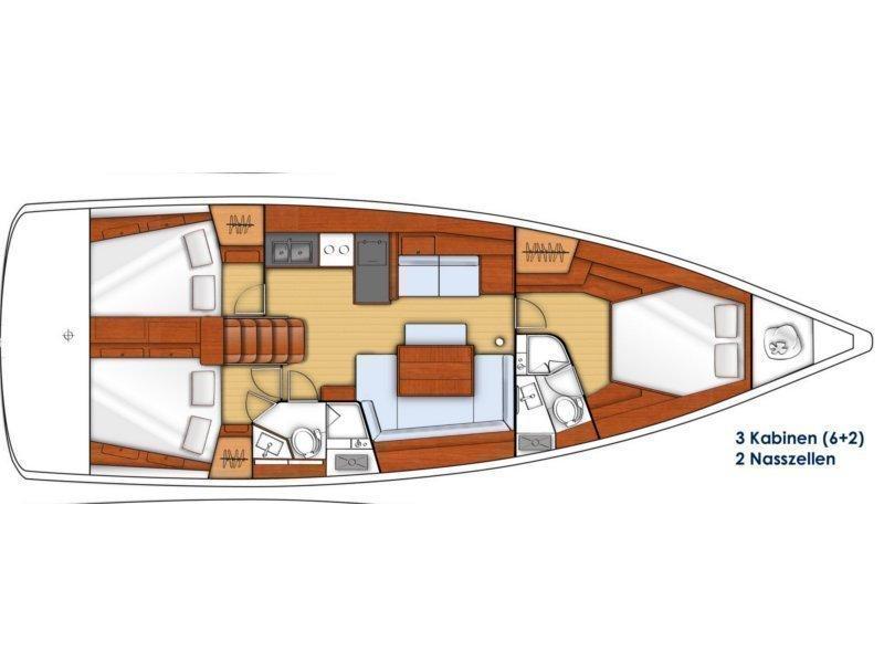 Oceanis 45- 4 cab (VESNA) Plan image - 22