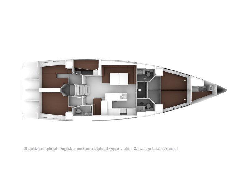 Bavaria Cruiser 56 (B56-14G-S) Plan image - 1