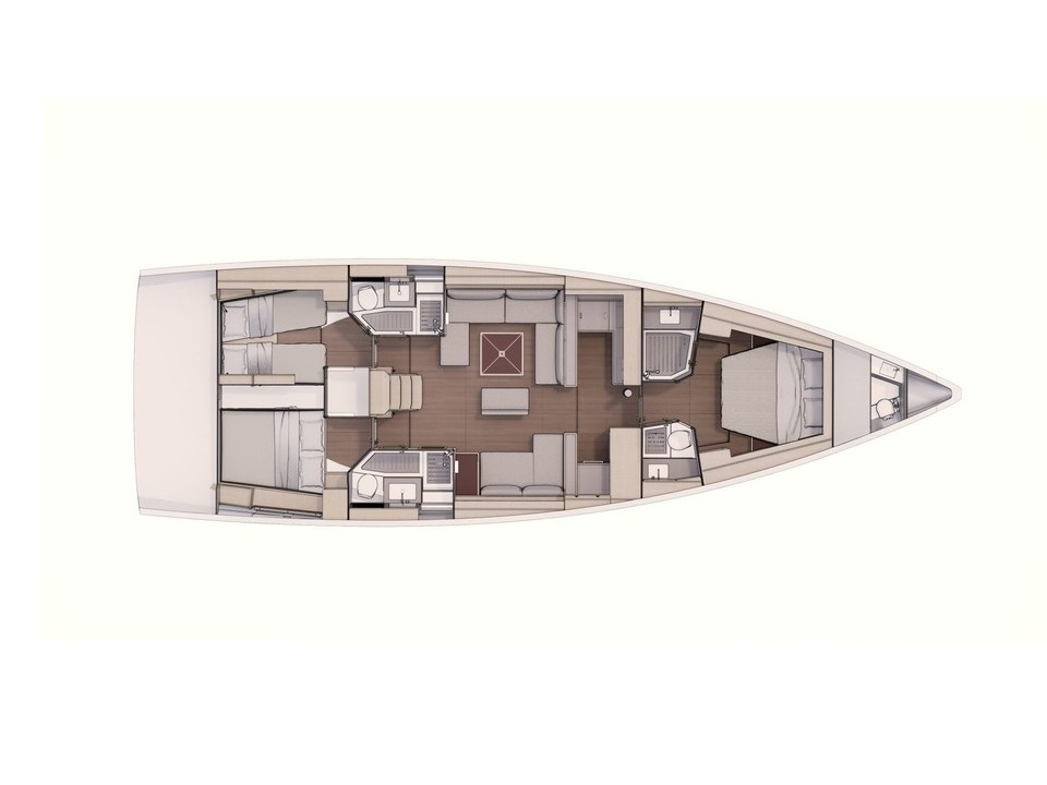 Dufour 530 - owner's version- skippered (Dimpa) Plan image - 1