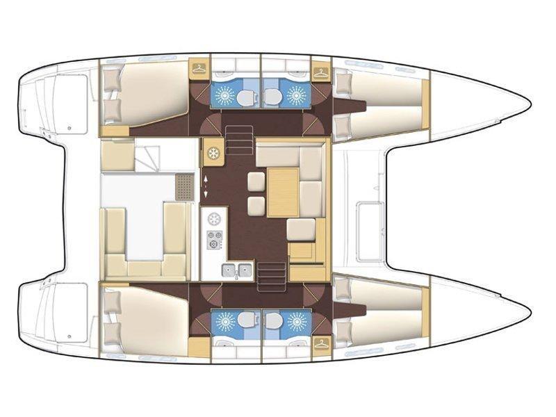Lagoon 400 S2 (LADIES FIRST) Plan image - 2