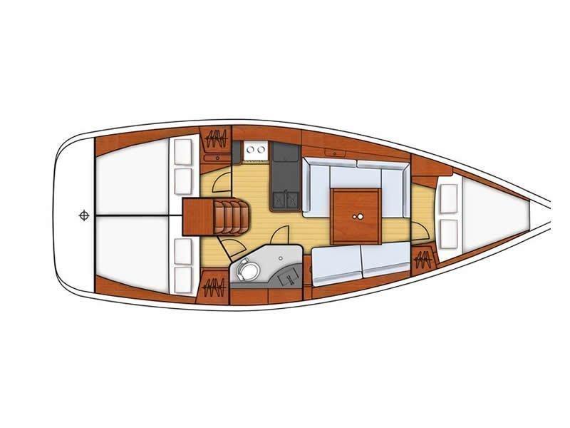 Oceanis 34 (CAPRICE) Plan image - 2