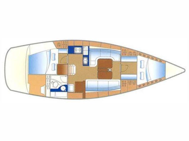 Bavaria 38 Cruiser (2 cbs) (B38-08-2-S) Plan image - 1