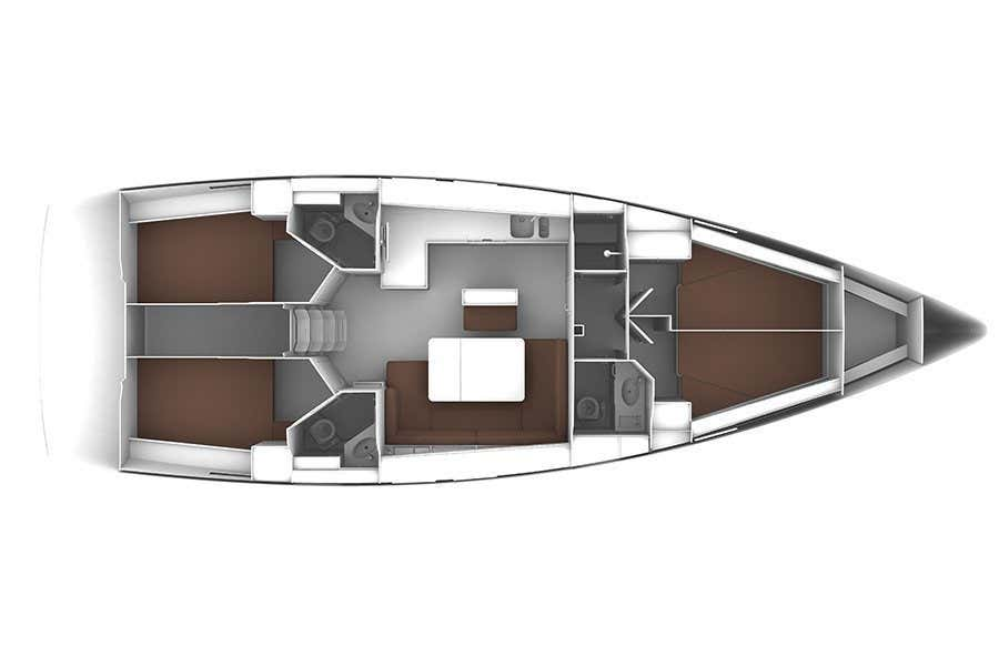 Bavaria Cruiser 46 (Bav46 2014') Plan image - 1