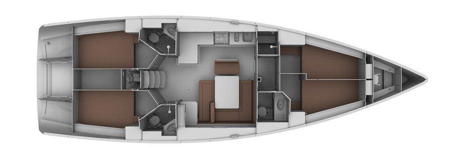 Bavaria 45 Cruiser (Enya) Plan image - 2