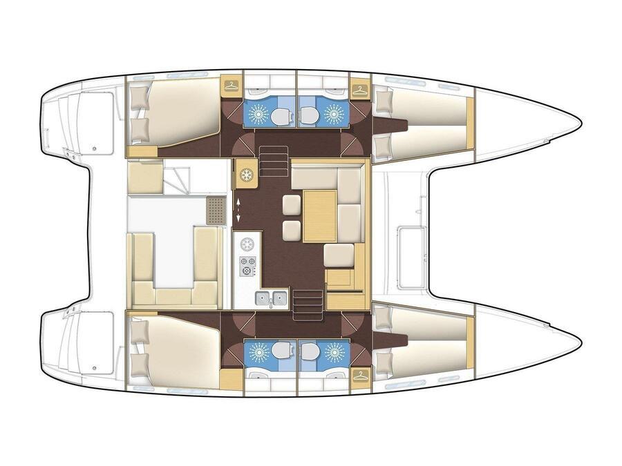 Lagoon 400 S2 (LAGOON 400 S2 ) Plan image - 8
