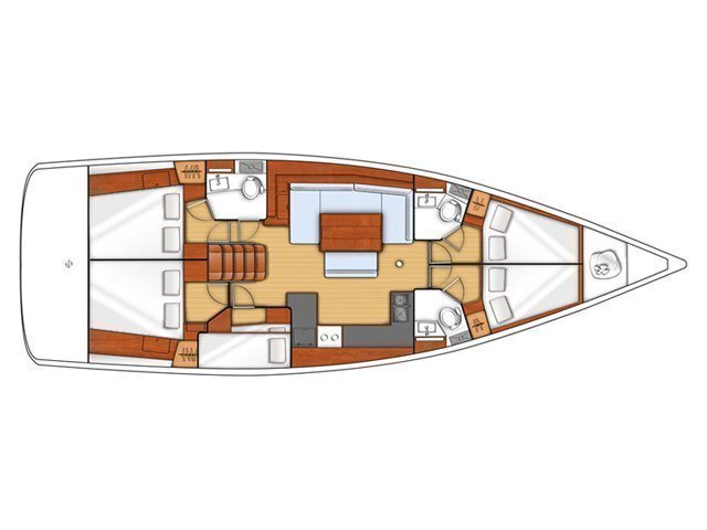 Oceanis 48 (CHEEKY LADY) Plan image - 2