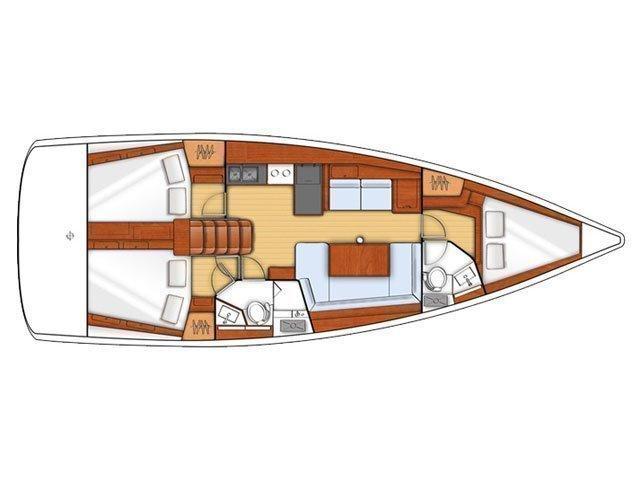 Oceanis 41 (HUSCHEL II) Plan image - 18