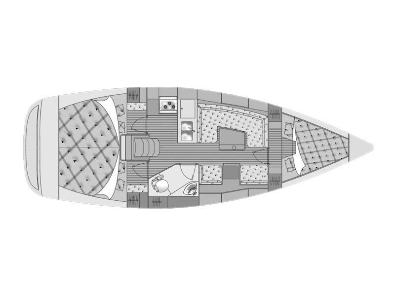 Elan 344 Impression (Martina II (sails 2015)) Plan image - 4