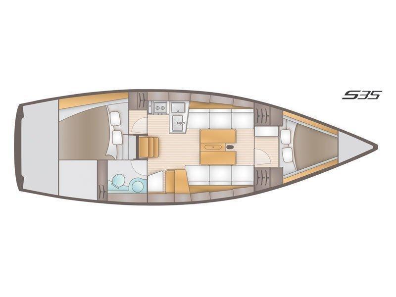 Salona 35 (Charly) Plan image - 8