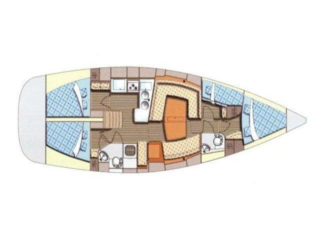 Elan 434 Impression (Aventura) Plan image - 1