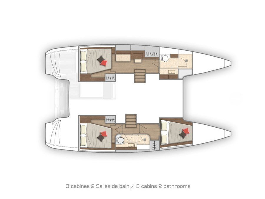 Lagoon 40-3 EXCLUSIVE (THE CURE OWNER VERSION AC salon + generator) Plan image - 22