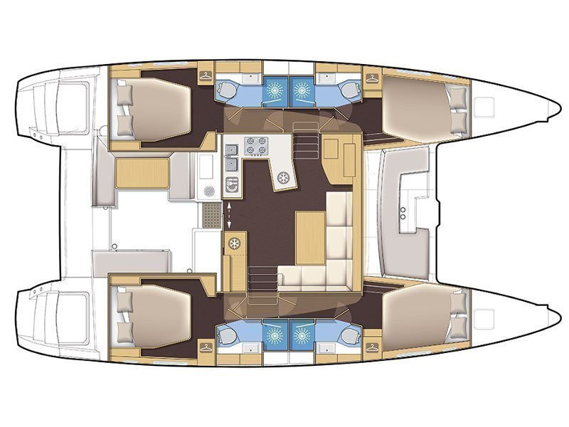 Lagoon 450 F (MUST HAVE AC all + generator + OB 20HP) Plan image - 19