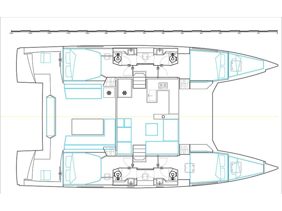 Nautitech 46 Fly (Exhibit A (Skippered - Tuesday)) Plan image - 1