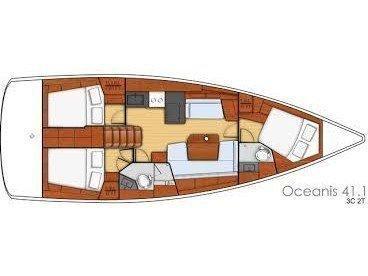 Oceanis 41.1 (Oscar I) Plan image - 2