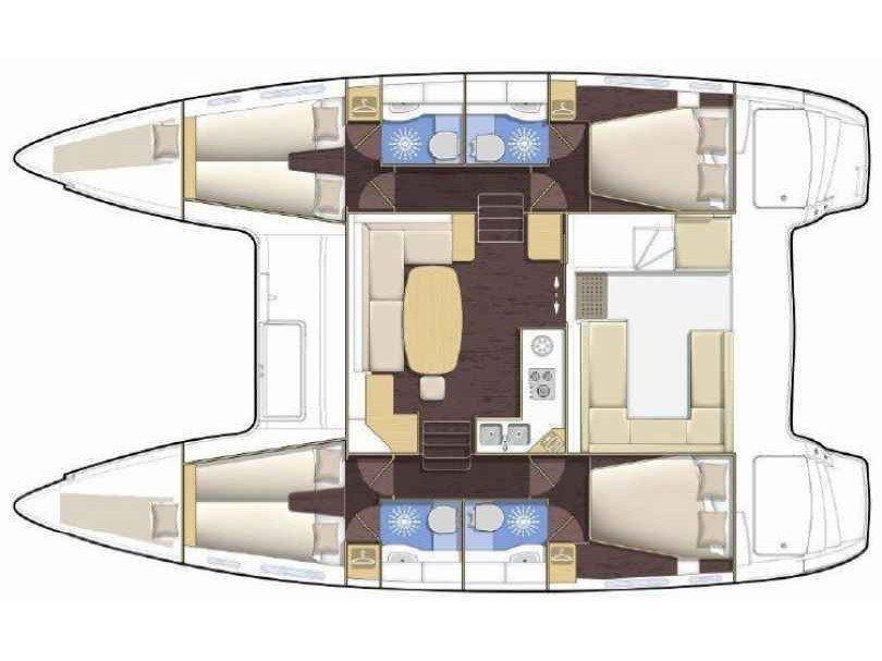 Lagoon 400 S2 (LIMA III) Plan image - 1