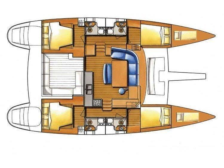 Lagoon 450 Sportop (MANGO V) Plan image - 1
