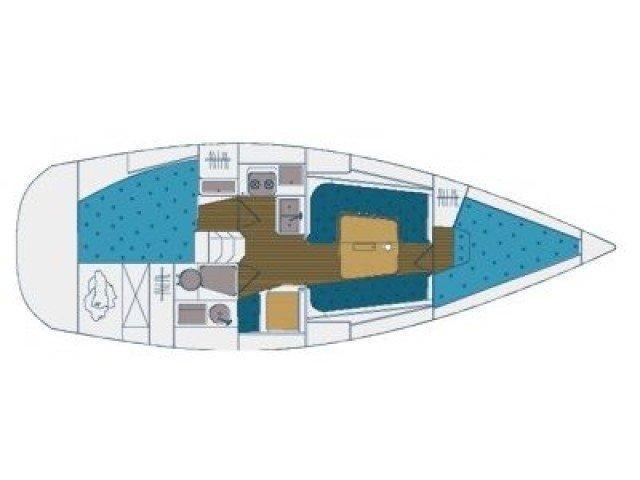Elan 333 (LANA ( sails 2018:) Plan image - 1